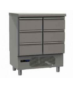 Réfrigérateur pour poissons 2 tiroirs triples