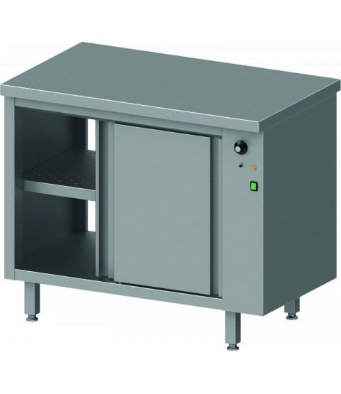Table traversante avec placard chauffant -Version Adossée et centrale -STALGAST