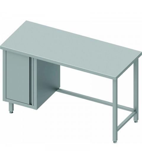 Table adossee avec placard 1 porte - Profondeur 700mm - STALGAST