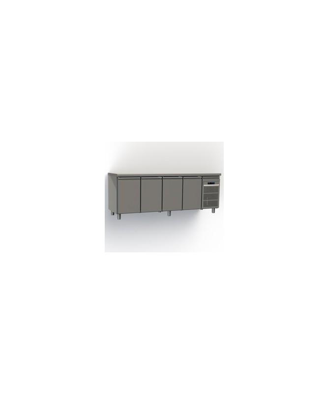 Table réfrigérée 4 portes  (corps 65)-Matériel Restauration pro