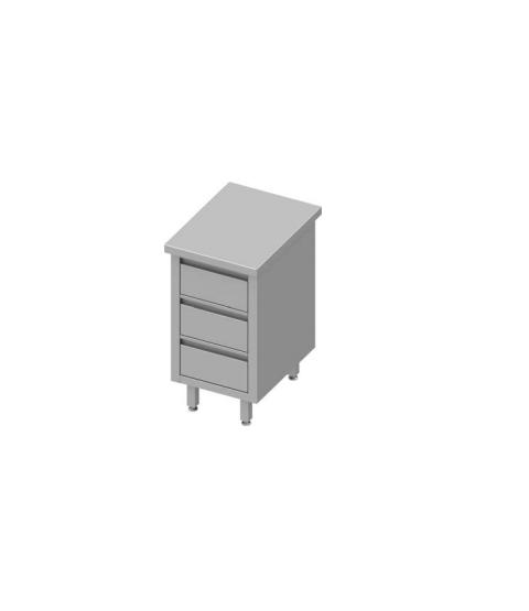 Armoire de travail avec trois tiroirs