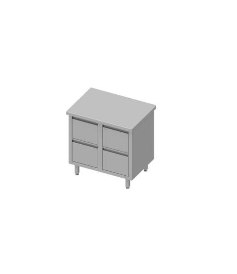 Armoire de travail avec quatre tiroirs