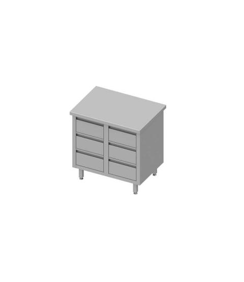 Armoire de travail avec six tiroirs