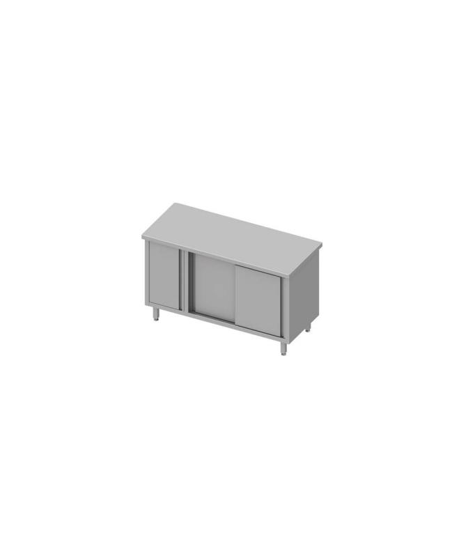 Armoire de travail avec placard et deux portes battantes