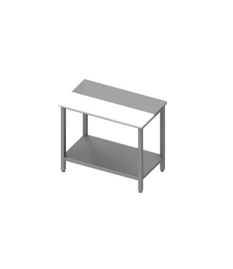 Table avec étagère avec panneau en polyethylene