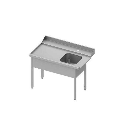 Table adossée de chargement à droite sans étagère pour lave-vaisselle à capôt