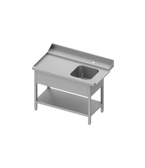 Table adossée de chargement à droite avec étagère pour lave-vaisselle à capôt