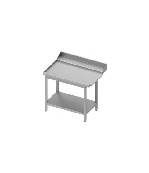 Table adossée de dechargement à droite avec étagère pour lave-vaisselle à capôt