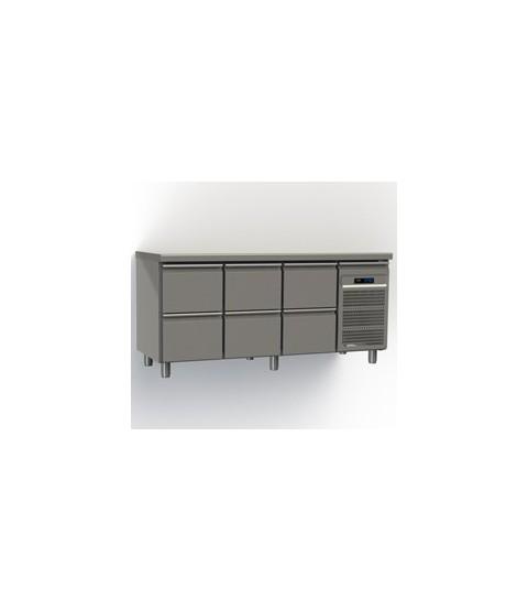 Table réfrigérée six tiroirs