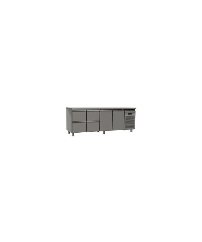 Table réfrigérée 4 tiroirs  2 portes profondeur 70 avec meilleur prix