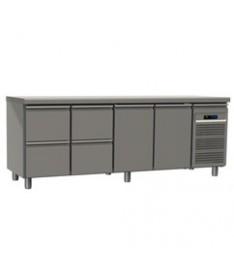 Table réfrigérée 4 tiroirs et 2 portes