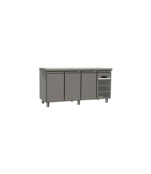 Table réfrigérée trois portes GN2/1 profondeur 70 avec meilleur prix