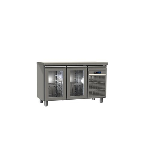 Table réfrigérée 2 portes vitrées GN2/1  avec meilleur prix