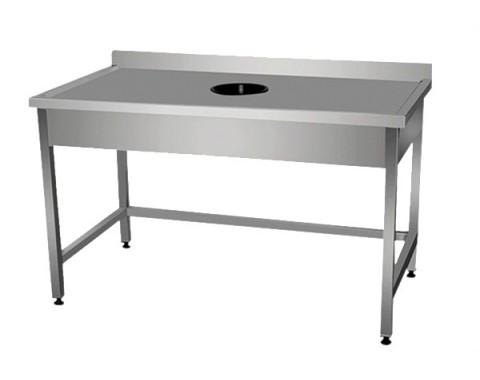 Table inox avec vide ordure
