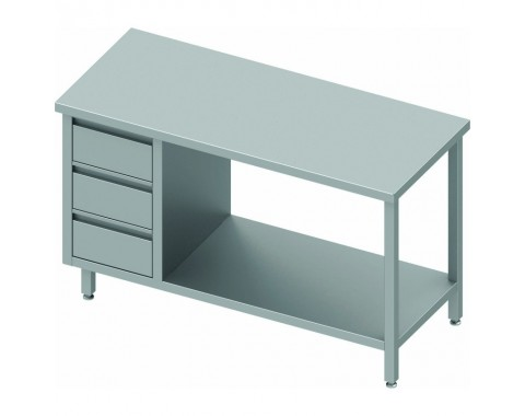 Table inox avec tiroir