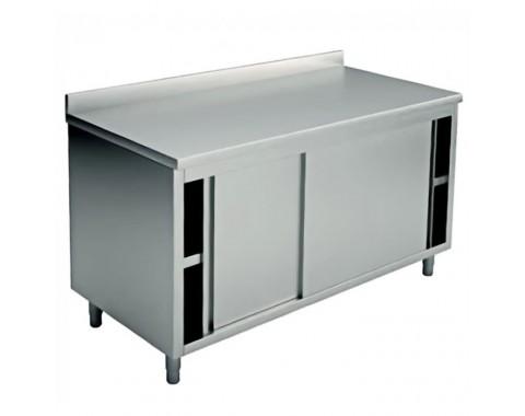 Table inox avec porte