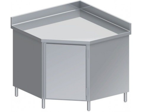 Table d'angle inox