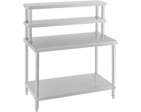 Table inox avec etagère
